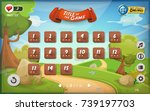 game user interface design for... | Shutterstock .eps vector #739197703