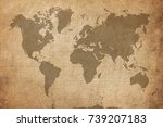 map of the world | Shutterstock . vector #739207183
