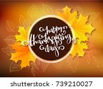vector thanksgiving greeting... | Shutterstock .eps vector #739210027