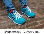 ferrara  italy   circa october  ... | Shutterstock . vector #739219483