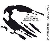 island map of sucia islands... | Shutterstock .eps vector #739227913