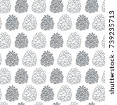 seamless pattern with hand... | Shutterstock .eps vector #739235713