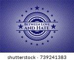 between love and hate badge... | Shutterstock .eps vector #739241383