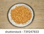 healthy granola breakfast pizza ...   Shutterstock . vector #739247833