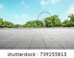 empty floor square and... | Shutterstock . vector #739255813