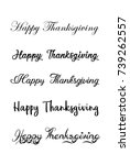 thanksgiving typography hand... | Shutterstock .eps vector #739262557