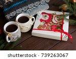 christmas morning  homemade... | Shutterstock . vector #739263067