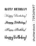 handwritten modern brush...   Shutterstock .eps vector #739269697