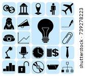 set of 22 business related... | Shutterstock .eps vector #739278223