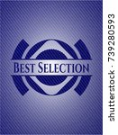 best selection with jean texture   Shutterstock .eps vector #739280593