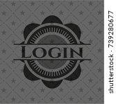 login black emblem. vintage.   Shutterstock .eps vector #739280677