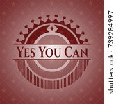 yes you can retro style red...   Shutterstock .eps vector #739284997