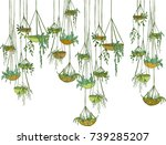Modern Suspended  Pots With...