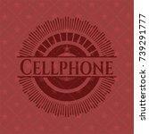 cellphone red emblem   Shutterstock .eps vector #739291777