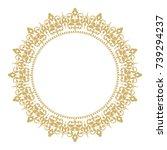 vintage classic frame. damask...   Shutterstock .eps vector #739294237