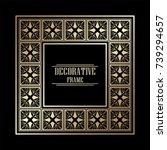 vintage ornamental art deco...   Shutterstock .eps vector #739294657