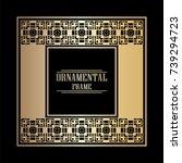 vintage ornamental art deco...   Shutterstock .eps vector #739294723