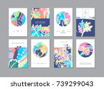 set of creative universal... | Shutterstock . vector #739299043
