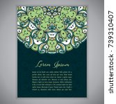 greeting card  invitation or...   Shutterstock .eps vector #739310407