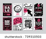 black friday sale template... | Shutterstock . vector #739310503