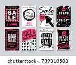 black friday sale template... | Shutterstock . vector #739310503