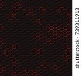 hexagonal pattern. hexagons... | Shutterstock .eps vector #739311913