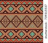 tribal vintage ethnic seamless   Shutterstock .eps vector #739315537