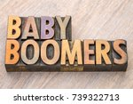 baby boomers word abstract in... | Shutterstock . vector #739322713