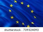 european union flag. flag of... | Shutterstock . vector #739324093