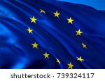 european union flag. flag of... | Shutterstock . vector #739324117