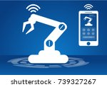 icon of industry 4.0 concept ... | Shutterstock .eps vector #739327267