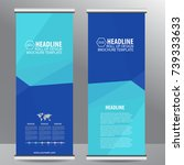 roll up business brochure flyer ... | Shutterstock .eps vector #739333633