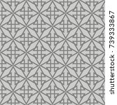 Tile Vector Pattern With Grey...