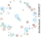 round frame or border christmas ... | Shutterstock .eps vector #739334917