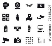 16 vector icon set   virtual... | Shutterstock .eps vector #739351207