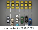 taxi traffic ahead of the rest... | Shutterstock . vector #739351627