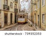 lisbon tram | Shutterstock . vector #739352353