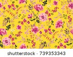 trendy seamless floral pattern... | Shutterstock .eps vector #739353343