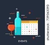 flat design banner for events... | Shutterstock .eps vector #739363393
