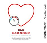 blood pressure measurement ... | Shutterstock .eps vector #739363963