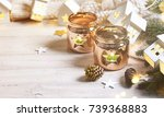 cosy and soft winter background ... | Shutterstock . vector #739368883