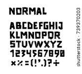 handwritten brush ink black font | Shutterstock .eps vector #739370203