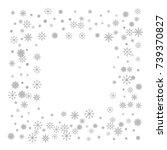 christmas snow splash frame or... | Shutterstock .eps vector #739370827