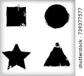 vector frames. circle for image.... | Shutterstock .eps vector #739377577