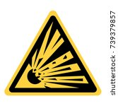 vector yellow triangle security ... | Shutterstock .eps vector #739379857