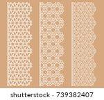 vector set of line borders with ... | Shutterstock .eps vector #739382407