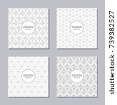 set of 4 creative covers with... | Shutterstock .eps vector #739382527