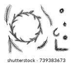 set of doodle hand drawn... | Shutterstock .eps vector #739383673