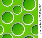 seamless round pattern. circle... | Shutterstock .eps vector #739394503
