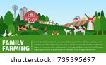 vector farming illustration.... | Shutterstock .eps vector #739395697